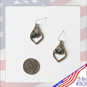 3/$30 Hand crafted sea treasure drop earrings